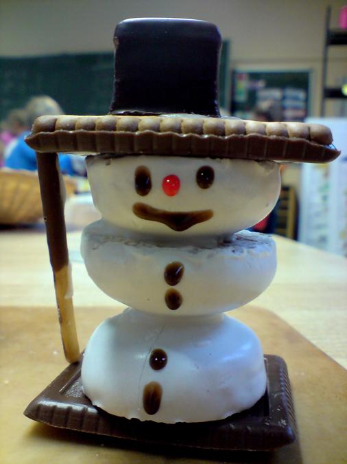 Am Freitag für kleines Geld zu kaufen. Ein Schneemann, der auch höhere Temperaturen verträgt.