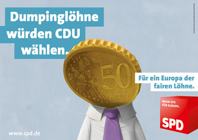 Dumpinglöhne würden CDU wählen