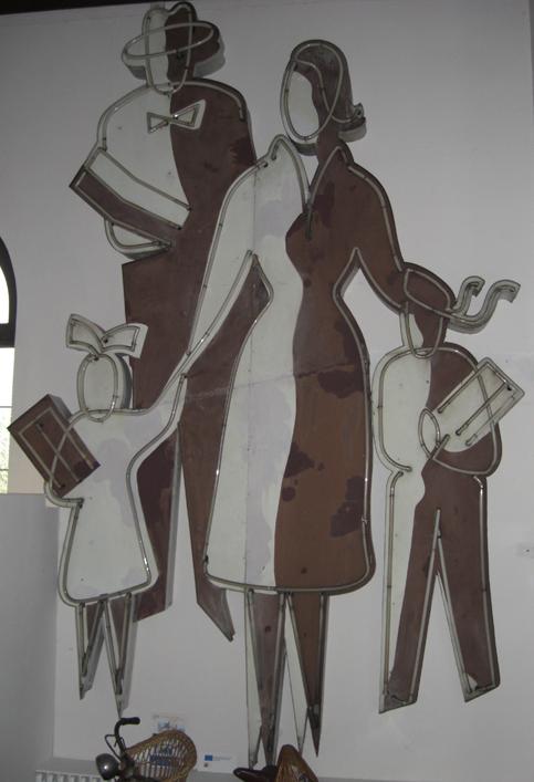 Auch im Museum: die Ausßenreklame von Ramelow (Bremerhaven Lehe)